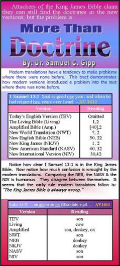 More Than Doctrine Tract