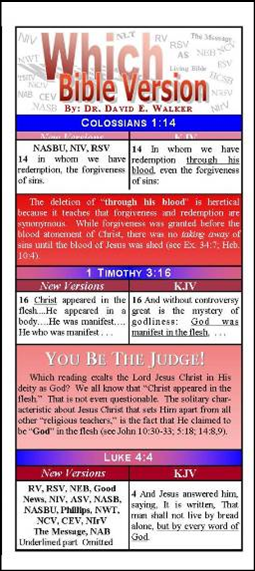 Which Bible Version? Tract